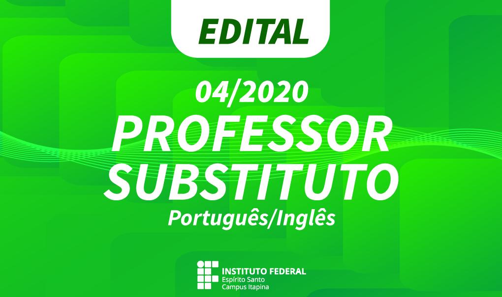 Campus Itapina abre inscrições para contratação de professor substituto de Língua Portuguesa/Inglês