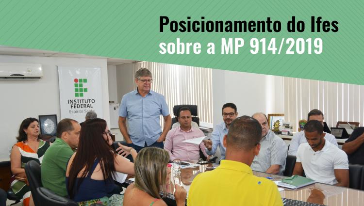 Gestores do Ifes divulgam posicionamento sobre a Medida Provisória (MP) nº 914/2019